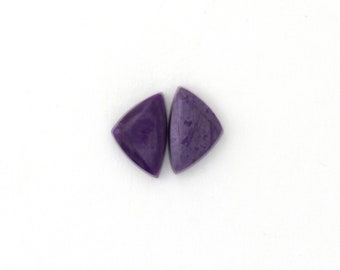 Sugilite Designer Cabochon Matched Pair 9.3x14.3x3.4 mm Free Shipping Free Returns