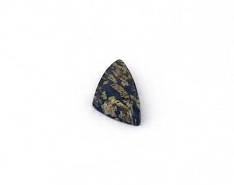 Metallic Blue Covellite Designer Cab Gemstone 10.2x20.7x3.7 mm Free Shipping Free Returns