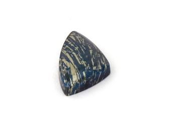 Metallic Blue Covellite Designer Cab Gemstone 14.6x25.8x5.0 mm Free Shipping Free Returns