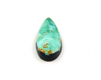 Natural Turquoise Designer Cabochon Gemstone with Free Shipping Free Returns 9.7x19.7x4.6 mm