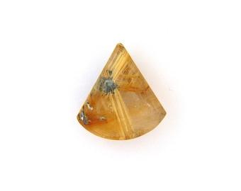 Natural Gold Rutilated Star Quartz Cabochon Gemstone 16.9x23.9x7.0 mm Free Shipping Free Returns