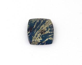 Metallic Blue Covellite Designer Cab Gemstone 18.4x25.5x3.9 mm Free Shipping Free Returns