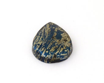 Metallic Blue Covellite Designer Cab Gemstone 22.0x29.8x5.9 mm Free Shipping Free Returns