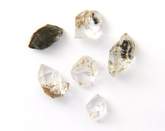 Six Small Herkimer Diamond Mineral Specimen from New York Free Shipping Free Returns