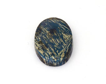Metallic Blue Covellite Designer Cab Gemstone 20.3x35.4x4.9 mm Free Shipping Free Returns
