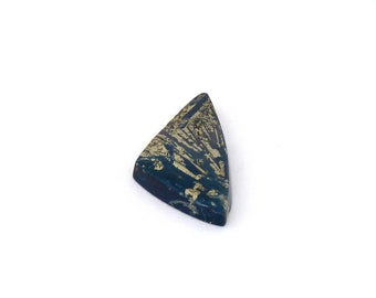 Metallic Blue Covellite Designer Cab Gemstone 13.7x27.2x3.8 mm Free Shipping Free Returns