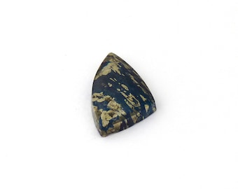 Metallic Blue Covellite Designer Cab Gemstone 13.6x25.3x4.0 mm Free Shipping Free Returns