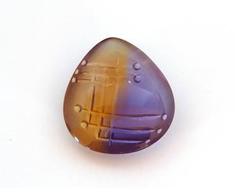Ametrine Fantasy Cut Gemstone 29.0x33.0x11.9 mm Free Shipping Free Returns