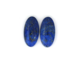 Natural Blue Afghanistan Lapis Lazuli Pyrite cabochons 11.5x23.0x4.4 mm Free Shipping Free Returns