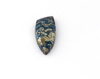 Metallic Blue Covellite Designer Cab Gemstone 12.2x31.0x4.9 mm Free Shipping Free Returns
