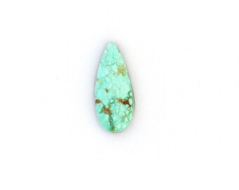 Natural Turquoise Designer Cabochon Gemstone Free Shipping Free Returns 9.9x22.8x5.0 mm