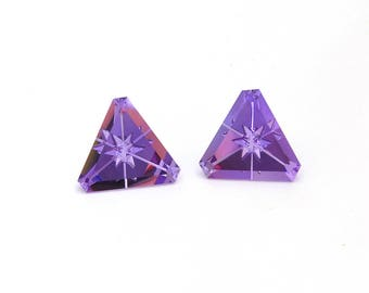 Amethyst Designer Gemstone Carving Faceted Fantasy Cut Matched Pair 17.0x17.1x10.3 mm Free shipping Free Returns