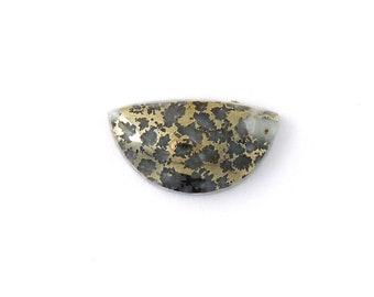 Metallic Mohawkite in Quartz Designer Cabochon Gemstone 14.2x25.3x6.5 mm Free Shipping Free Returns