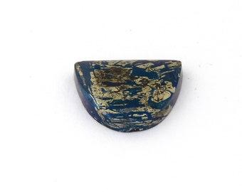 Metallic Blue Covellite Designer Cab Gemstone 18.6x22.7x4.7 mm Free Shipping Free Returns
