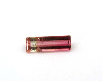 Pink Bicolor Tourmaline Faceted Gemstone Free Shipping 5.7x1.2x3.4 mm