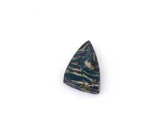 Metallic Blue Covellite Designer Cab Gemstone 11.6x24.2x3.7 mm Free Shipping Free Returns