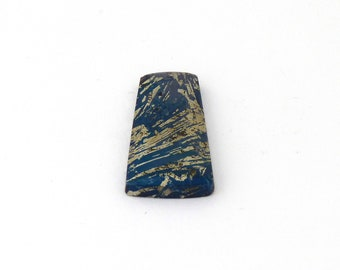 Metallic Blue Covellite Designer Cab Gemstone 15.0x30.4x3.9 mm Free Shipping Free Returns
