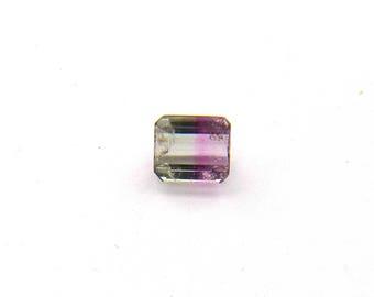 Pink White Tourmaline Faceted Gemstone Free Shipping Free Returns 7.3x8.3x5.5 mm