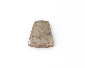 Shimmering Native Silver Designer Cabochon Gemstone 17.9x24.3x4.2 mm Free Shipping Free Returns
