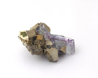 Arsenopyrite & Fluorite Mineral Specimen from China Free Shipping Free Returns