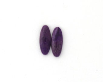 Sugilite Designer Cabochon Matched Pair 6.4x16.5x2.6 mm Free Shipping Free Returns