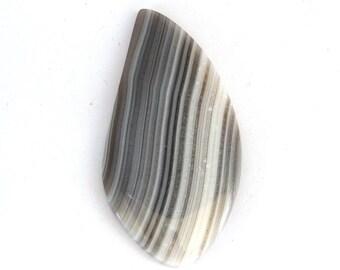 Banded Botswana Agate Designer Cabochon Gemstone 22.2x44.0x3.2 mm Free Shipping