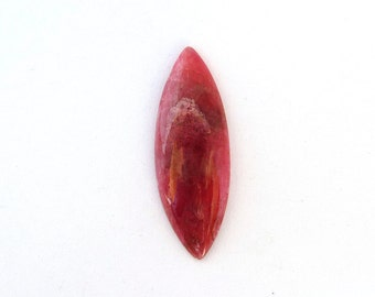 Natural Cherry Red Rhodonite Freeform Designer Cabochon Gemstone 10.5x29.6x3.5 mm Free Shipping Free Returns