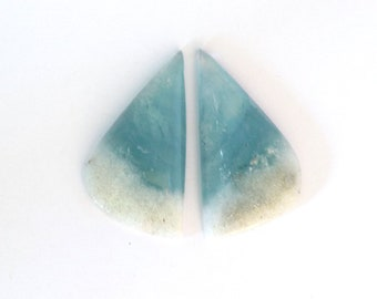 Aquamarine & Goshenite Designer Gemstone Matched Pair 11.5x26.2x4.1 mm Free Shipping Free Returns