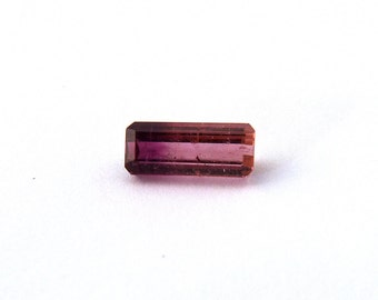 Red Pink Bicolor Tourmaline Faceted Gemstone Free Shipping 5.0x11.7x4.1 mm