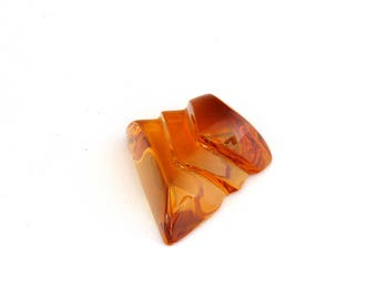 Brazil Citrine Designer Gemstone Carving 28.1x30.6x15.3 mm Free Shipping