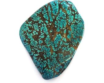 Designer Cabochon Turquoise Blue Green Spiderweb Gemstone 105.4x145.0x13.7 mm Free Shipping Free Returns turq0041