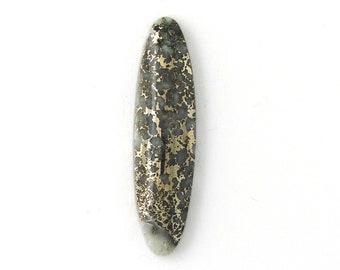 Metallic Mohawkite in Quartz Designer Cabochon Gemstone 12.9x48.8x6.2 mm Free Shipping Free Returns