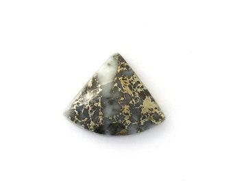 Metallic Mohawkite in Quartz Designer Cabochon Gemstone 21.0x25.4x6.8 mm Free Shipping Free Returns