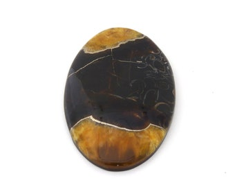 Simbercite or Simbircite Pyrite Agate Designer Cabochon Free Shipping 38.8x60.6x8.5 mm