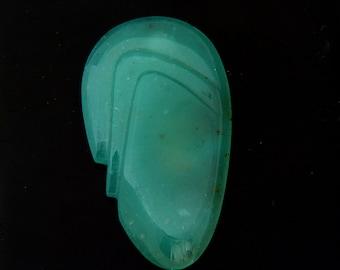 Large Natural Aqua Pura Chalcedony Designer Cabochon Gemstone Carving 29.3x51.1x10.3 mm Free Shipping Free Returns
