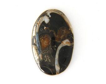 Simbercite or Simbircite Pyrite Agate Designer Cabochon Free Shipping Free Returns 38.7x60.8x8.1 mm