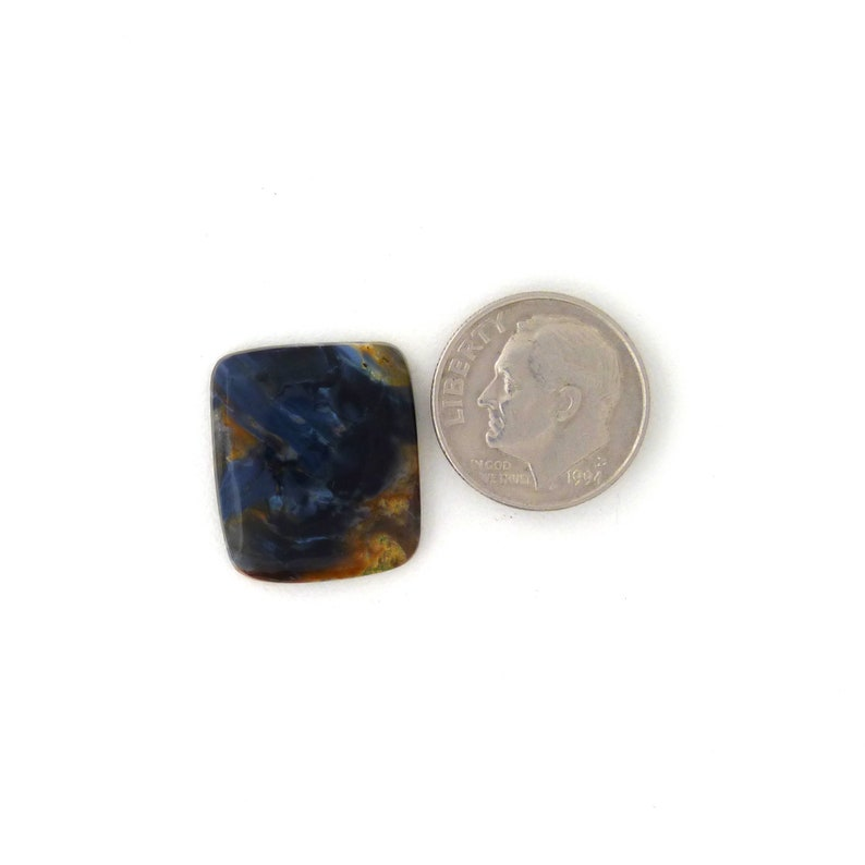 African Blue Pietersite Designer Gemstone Cab 16.6x19.3x3.5 mm Free Shipping Free Returns