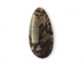 Simbercite Simbircite Pyrite Agate Designer Cabochon Free Shipping Free Returns 41.1x51.9x8.8 mm