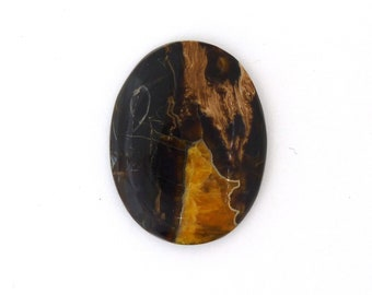 Simbercite Simbircite Pyrite Agate Designer Cabochon Free Shipping Free Returns 35.2x45.4x6.5 mm
