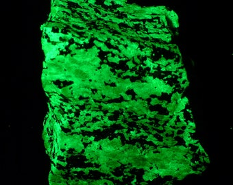 Fluorescent Serpentine with Hematite Mineral Specimen Free Shipping Free Returns