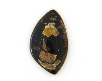 Simbercite or Simbircite Pyrite Agate Designer Cabochon Free Shipping Free Returns 37.0x63.4x8.6 mm