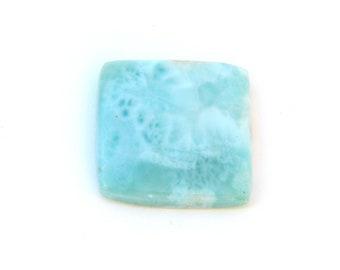Stunning Blue Larimar Designer Cab Gemstone 18.0x18.7x3.7 mm Free Shipping Free Returns
