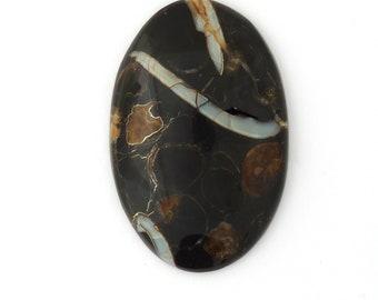 Simbercite or Simbircite Pyrite Agate Designer Cabochon Free Shipping Free Returns 42.1x64.4x9.7 mm
