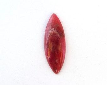 Natural Cherry Red Rhodonite Freeform Designer Cabochon Gemstone 10.5x29.6x3.5 mm Free Shipping Free Returns