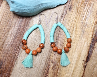 Beach Bead Earrings