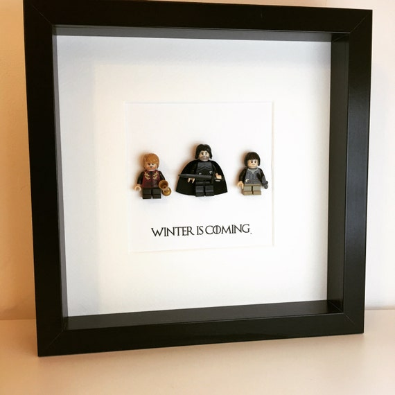 Game of Thrones Gift minifigure Frame. Fathers Day Alternative | Etsy