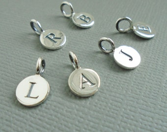 Sterling Silver Letter Initial Charm, Personalisation Charm, Alphabet Charms, Choose Initial to Personalize Your Gift