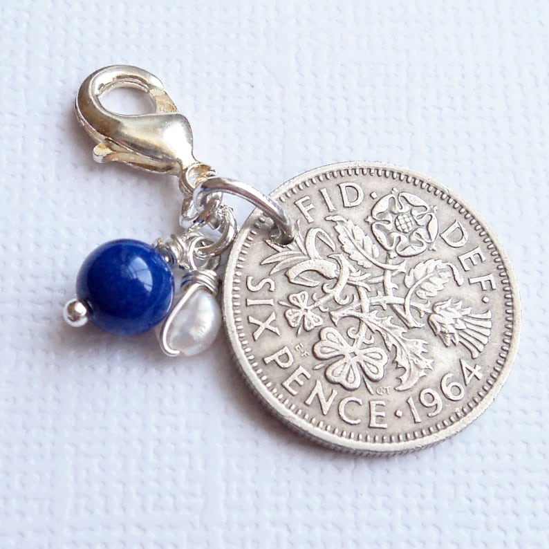 Something Old New Borrowed & Blue Wedding Charm  Lucky image 0