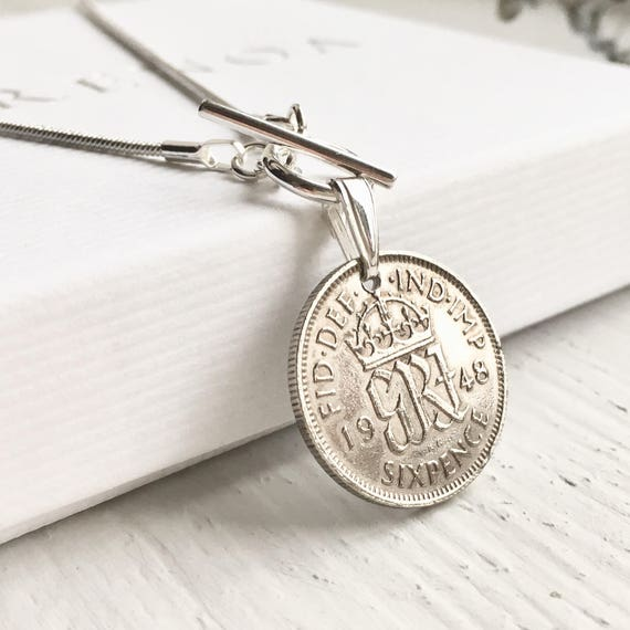 70th Birthday Gifts For Her Anniversary 1948 Sixpence