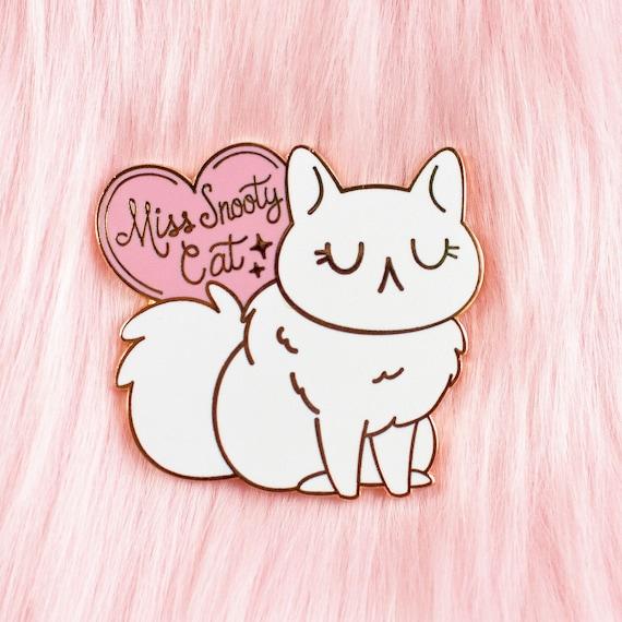 Przegap Snobistyczny Kot Twarde Szkliwo Pin Lily Studio Etsy